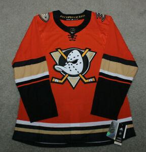 NWT Men's Adidas Anaheim Ducks Jersey NHL Hockey Third Orange Jersey Size 52