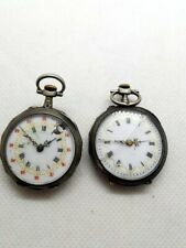 LOT 2 GOUSSET POCKET WATCH AG MASSIF C CRETTIEZ ES ET OR 18CT TALON A ST CHELY