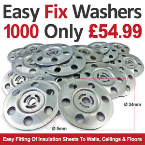 Insulation Board Fixing Washer Disks For Easy Fitting of Insulation sheets