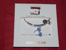 Disney Parks Alex & And Ani Minnie Mouse Headband Blue Silver  Bracelet New