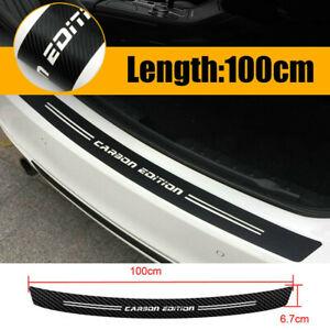 4D Carbon Fiber Rear Trunk Bumper Guard Accessories Moulding Sticker Decal Trim
