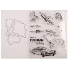 Stamps Motivstempel DIY Reise Grußkarte Tagbuch Scrapbooking Kokospalme Sunshine