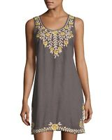 ❤️New Beautiful JWLA Johnny Was TIVA Embroidered Flower Tunic Dress S $318 ❤️