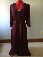 Fireworks Inc | Vintage disco sheer backless burgundy dress sz Medium