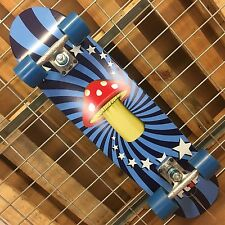New Flip Mushroom Cruzer Complete Skateboard - Blue - 8.0in x 30.35in
