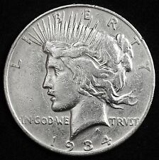 1934-d Peace Silver Dollar.  Circulated.  104909