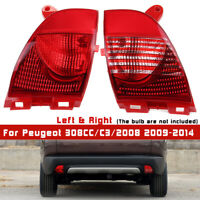 RHD Tail Rear Bumper Fog Light Reflector Lens For Peugeot 308CC 2008 2009-2019