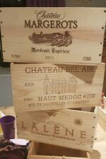 6 pack GENUINE FRENCH WOODEN WINE CRATES BOXES