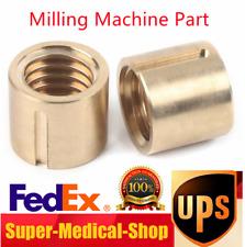 2pcs X Axis Milling Machine Part Work Table Longitudinal Feed Nut Keyway 5mm
