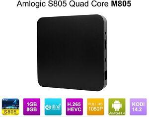 New Android 4.4 Kitkat 1080p 1GB/8GB Amlogic S805 Quad Core TV Box M805
