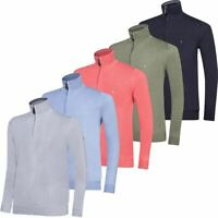 OSCAR JACOBSON MENS PULLOVER WALDORF PIN 1/2 Zip GOLF SWEATER  NOW 40% OFF