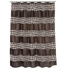 Popular Bath Sinatra Fabric Shower Curtain, Bronze with Sequins