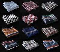 CB Check Men Silk Satin Pocket Square Hanky Wedding Party Handkerchief