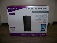 NETGEAR C3000 340 Mbps 2 Port Gigabit Wireless N300 Modem/Router Combo WI-FI 3.0