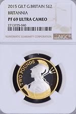 2015 Definitve Britannia £2 Silver Proof NGC PF-69 UC w/ OGP UK Britain British