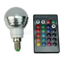 Nouveau LED Lampe Ampoule E14 RGB Télécommande 16 Couleurs 24 Boutons Aluminium