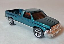 Hot Wheels Dodge Ram Truck 1994 Sparkly Metal Flake Bluish Green and Gray