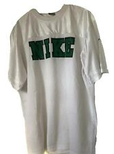Nike Mens Vintage Size XL Team Soccer Jersey White Green Lettering Basketball