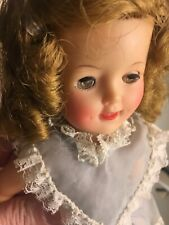 Shirley Temple doll by Ideal blue dress vintage 1950's