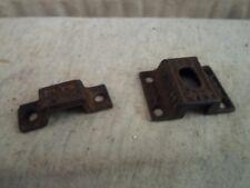 2 Antique Eastlake Victorian flush mount  latch plates