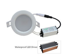 10 x 7w LED Recessed Downlight Waterproof Ceiling Light Pure White Lamp Fixture