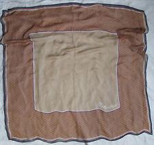 Beau foulard en mousseline de soie SELECTION by S. Olivier vintage Scarf