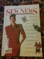 009 Vintage October 1988  SEW NEWS MAGAZINE FOR PEOPLE WHO SEW