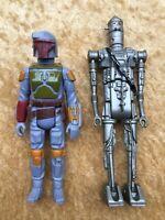 Star Wars Vintage Boba Fett IG-88 Figures 1979 1980 Mandalorian Set Strong Paint