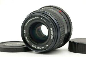 【N MINT】 Minolta MD W.ROKKOR 35mm f1.8 MF Wide Angle SLR Lens w/ Caps From JAPAN
