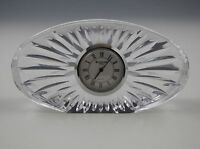 WATERFORD CRYSTAL MODERN STYLE, OVAL CLOCK -PAPERWEIGHT-IRELAND