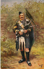 MILITARY :A Highland Piper - TUCK 'Oilette'