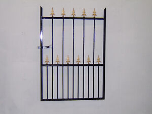 4 ft tall wrought iron  garden / side gate very strong hangs on the right !!