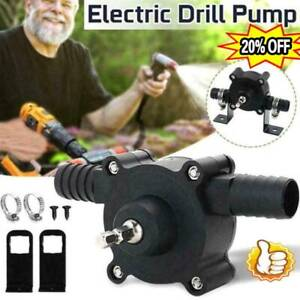 Small Hand Electric Drill Drive Self Priming Pump Oil Fluid Water Transfer Pumps