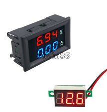 DC100V Blue+Red 10A Voltmeter Ammeter LED Amp Dual Digital Red LED Voltage Meter