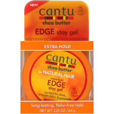 [CANTU] SHEA BUTTER FOR NATURAL HAIR EXTRA HOLD EDGE STAY GEL 2.25OZ CONTROL