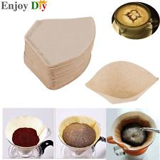 100Pcs/Bag Wooden Original Hand Drip Paper Espresso Coffee Filter Packs Tea Bags