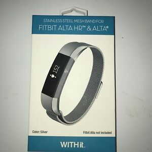 WITH IT STAINLESS STEEL MESH BAND FOR FITBIT Alta Hr & Alta