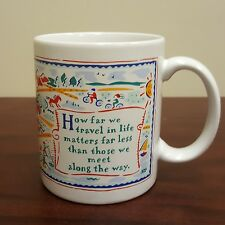 A Life Truth Travel Coffee Mug How much We Travel Doesnt Outweigh Who We Meet