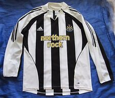 NEWCASTLE UNITED home LONG SLEEVE shirt ADIDAS 2005-07 The Magpies adult SIZE M