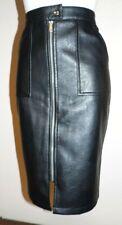 jupe T42 droite noir longue cuir synthétique pencil skirt crayon wiggle 672*