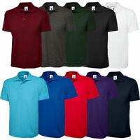 New Mens Active Pique Polo Shirt Size S - 3XL Sport Work Leisure Wear T-Shirt