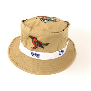Vintage Baltimore Orioles 40th Anniversary + Miller Lite bucket sun hat hbv2