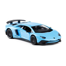 1:36 Lamborghini Aventador LP750-4 SV Car Model Alloy Diecast Toy Vehicle Blue