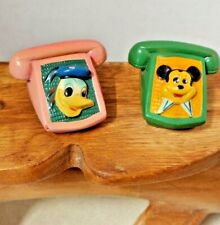 Donald Dick or Mickey Mouse Vintage Lark Ceramic Chalkware Pencil Sharpeners