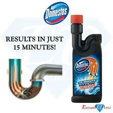 Domestos 15 Minute Sink & Pipe Unblocker 750ml - Eliminates / Removes Blockage