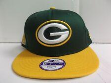 YOUTH Green Bay Packers  Snapback Cap New Era 9Fifty Flat Brim  Kid Baycik Hat