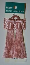 """Curtain & Chair Tie Back -27""""spread with 3"""" double tassel-Set of 2- 10 colors!!!"""