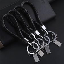 Men Fashion black Leather Key Chain Ring Keyfob Car Keyring Keychain Gift