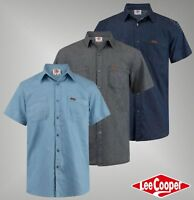 Mens Lee Cooper Stylish Cotton Top Short Sleeve Denim Shirt Sizes S-XXL
