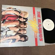 Promo THE RUNAWAYS Live In Japan JAPAN LP RJ-7249 NO POSTERS, Transcriptions